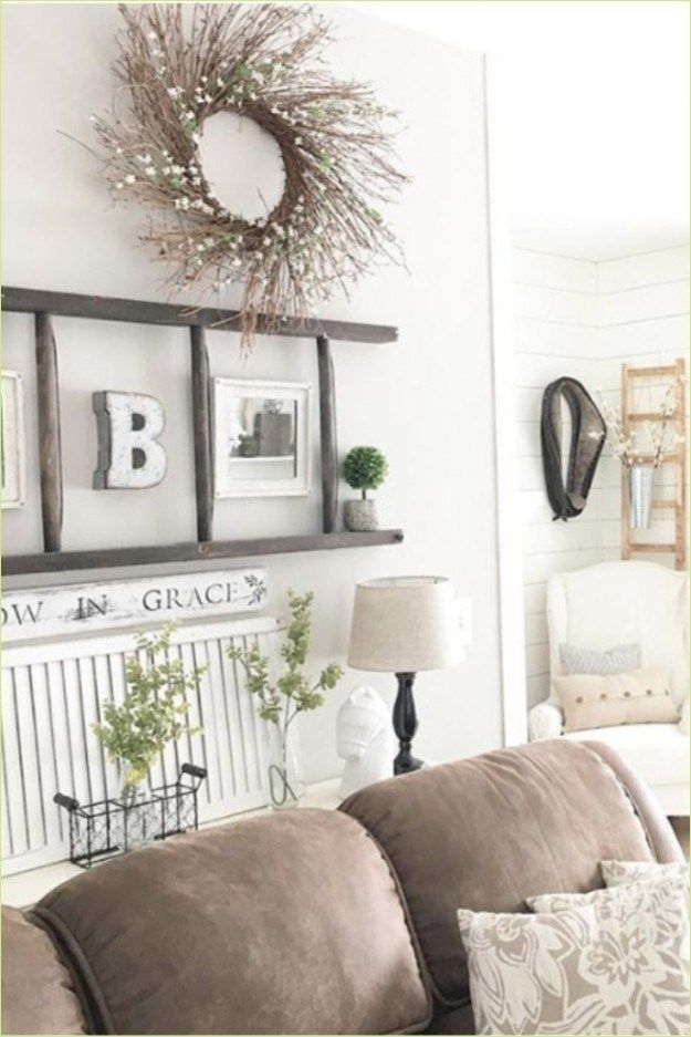 37 clever organize farmhouse wall grouping ideas - Modern wall decor ideas for living room ...