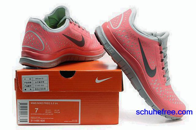 Damen Nike Free 3.0 V4 Schuhe Watermelon Red