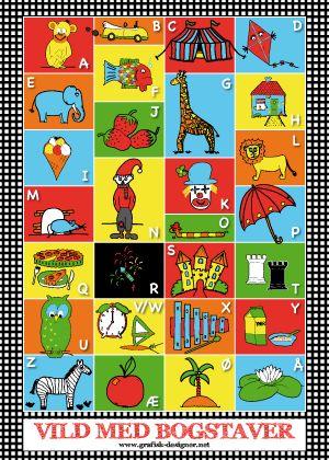 The Danish alphabet