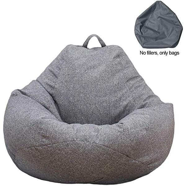Recliner Gaming Bean Bag Large Bean Bag Chairs Sofa Cover Water Resistant Indoor Outdoor Chair For Adults And Children Without Padding Large Bean Bag Chairs