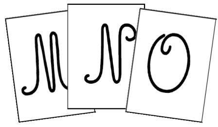 Alphabet majuscule cursive ecriture graphisme pinterest police alphabet et lettres cursives - K en majuscule ...