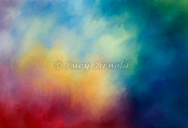 22x30 pastel This pastel painting is without forms - just nebulous clouds of color. I imagined it as an abstract of atmospheric colors on some distant world…