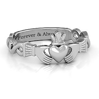 Classic Infinity Claddagh Ring | Jewlr This is absolutely gorgeous, I love it!!!