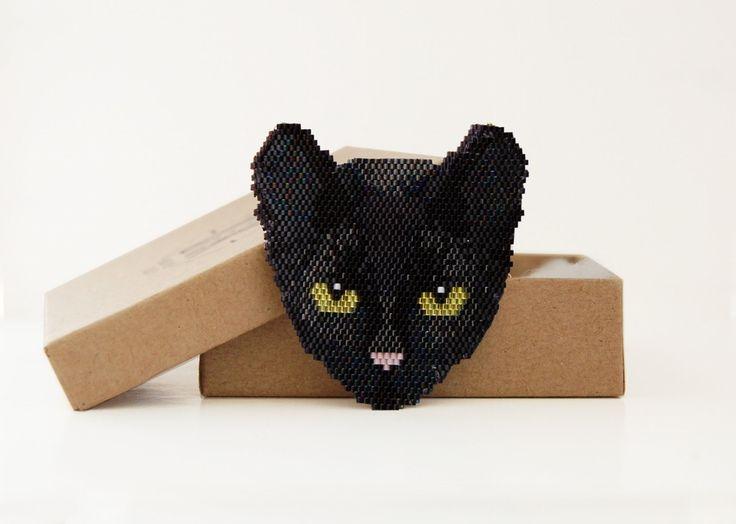 daisydk — SACHA | Peyote or brick stitch cat