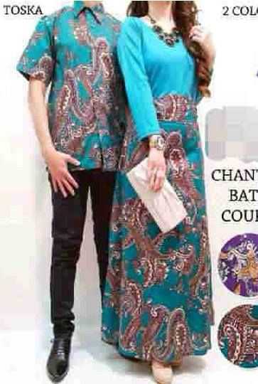 Chantika Tosca Batik Couple ( Wanita Model Baleto Bahan Katun Batik Kombi Spandek     Fit L     Harga : Rp. 172.000,-/pasang     Kode Produk / Product Code : CL2243