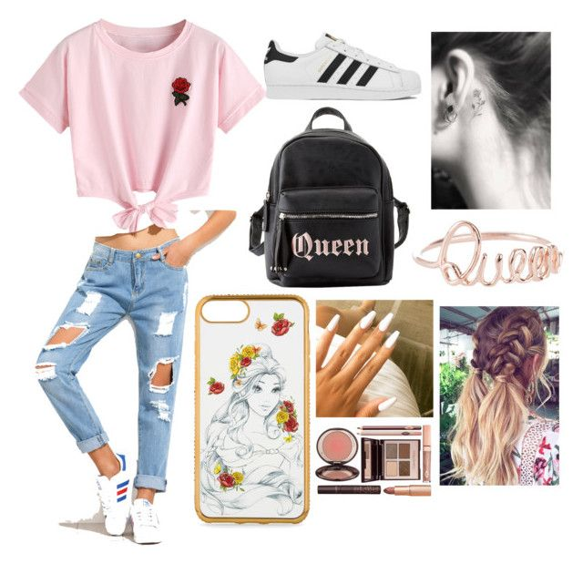 """""""Untitled #11"""" by amcracea-1 ❤ liked on Polyvore featuring WithChic, adidas, Charlotte Russe and Charlotte Tilbury"""
