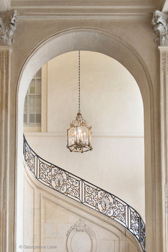 Paris Photography  Musee Rodin Staircase Neutral by GeorgiannaLane