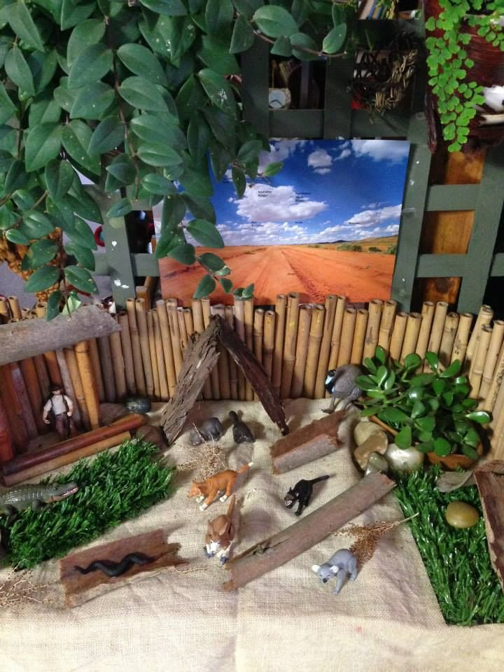 Outback scene from Puzzles Family Day Care ≈≈ http://www.pinterest.com/kinderooacademy/provocations-inspiring-classrooms/