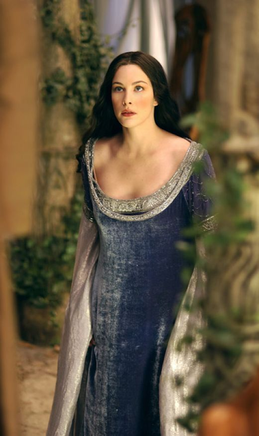 Arwen in Sapphire Myst costume  From Lord of the Rings movie