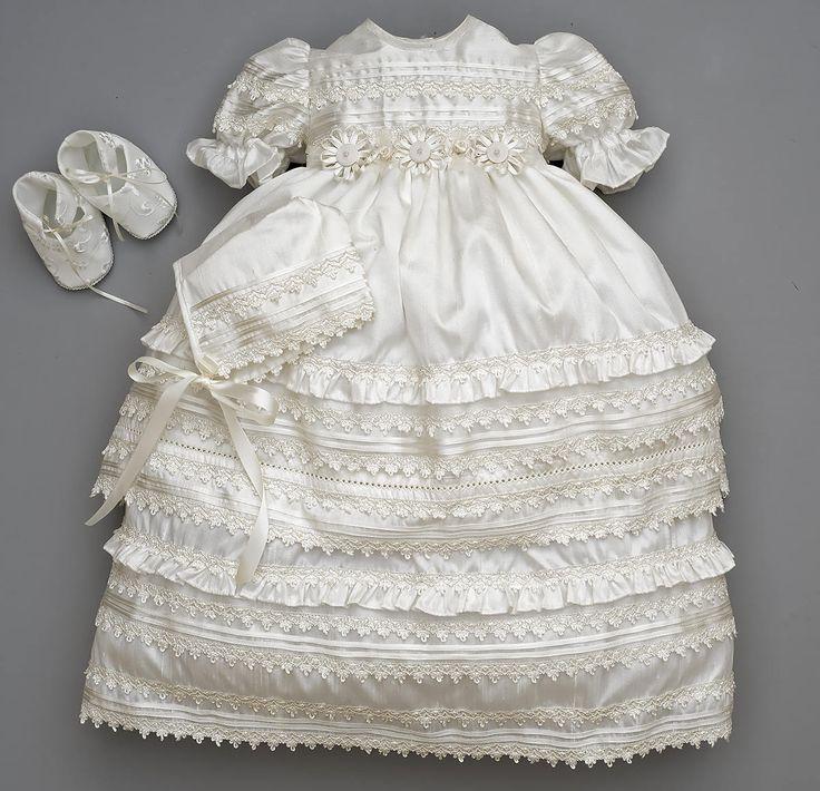 Beautiful Baby Girl Christening Gown Burbvus G002 | Baptism Heirloom Set, Matching Shoes & Bonnet | Handmade Baptism Dress Classical Design by Burbvus on Etsy