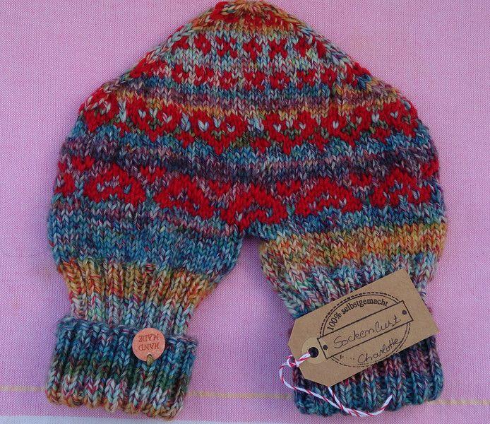 Pärchenhandschuh für Verliebte - Unikat von Sockenlust auf DaWanda.com
