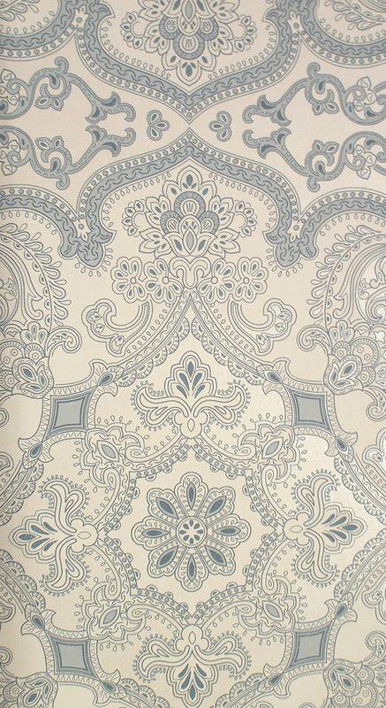Persia Wallpaper Indigo (19156-705) – James Dunlop Textiles | Upholstery, Drapery & Wallpaper fabrics