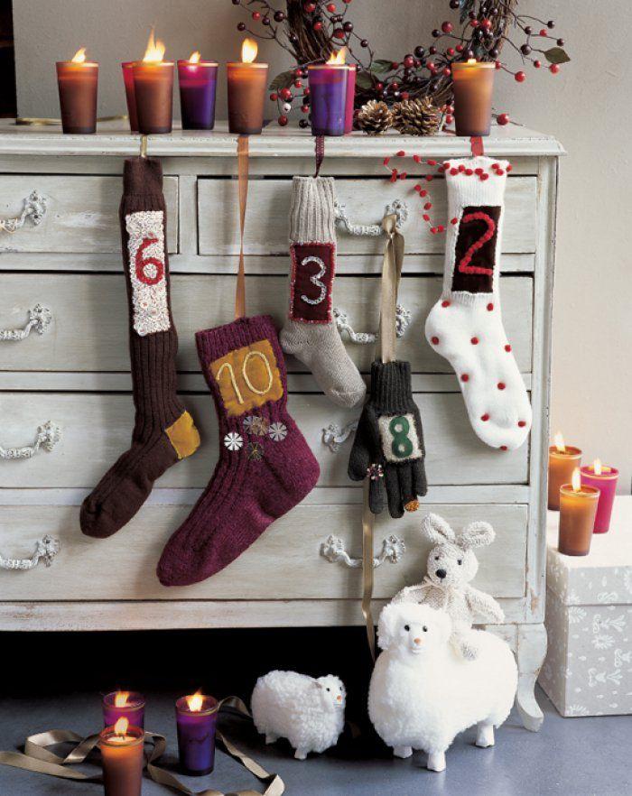 Des chaussettes customisées en guise de calendrier