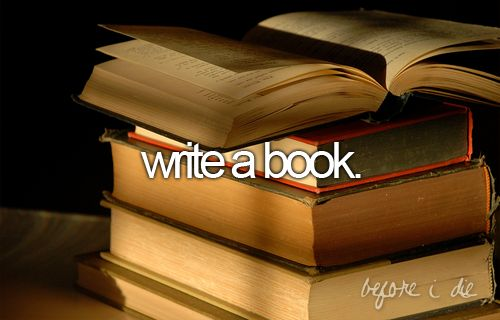 write a book before i die