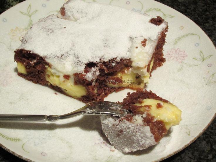 schneller Schoko-Pudding-Kleckskuchen « kochen & backen leicht gemacht mit Schritt für Schritt Bilder von & mit Slava