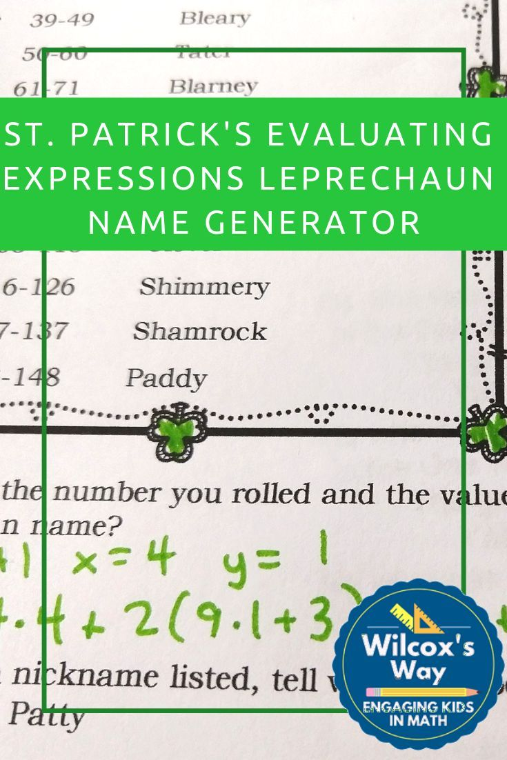 St Patrick S Day Evaluating Algebraic Expressions Math Activity Math Expressions Evaluating Algebraic Expressions Algebraic Expressions [ 1102 x 735 Pixel ]