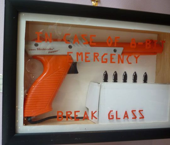 Something to do with old Nintendo Zapper -- love!!