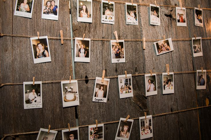 The photos from the photo booth displayed throughout the evening for the guests and bride and groom to enjoy.