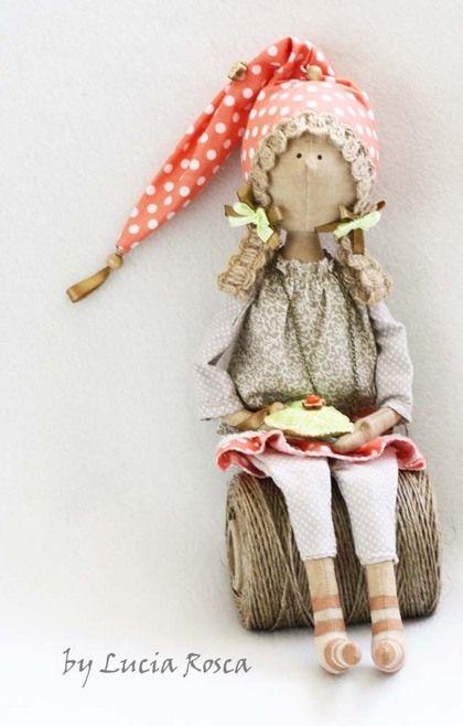"""Коллекционные куклы ручной работы. Ярмарка Мастеров - ручная работа Гномочка """"Счастье в кармашке"""":). Handmade."""