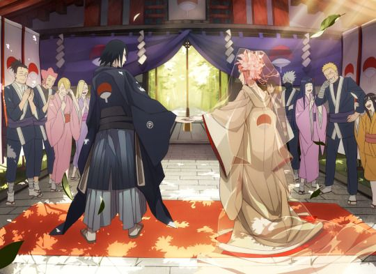 Sasuke and Sakura 's wedding :)