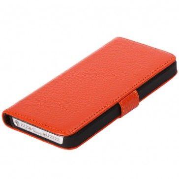iLux iPhone 5 Genuine Läder Fodral (Orange)