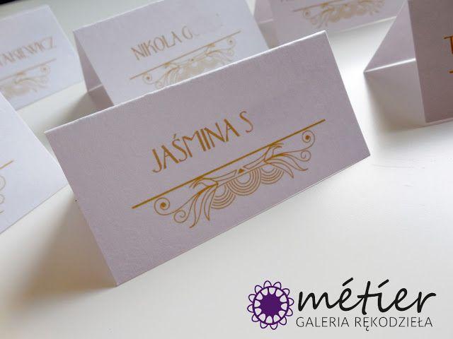 Winietki na stół weselny www.metier.pl www.facebook.com/zaproszenia.slubne