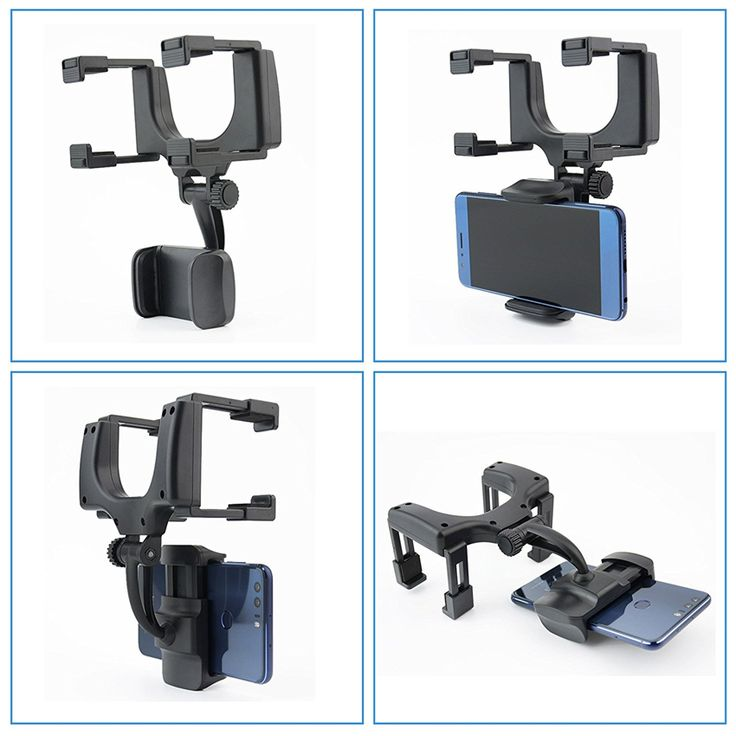 KELIMA 360° Rotation Rearview Mirror Mount Phone Holder for Phone 3.5-5.5 inches