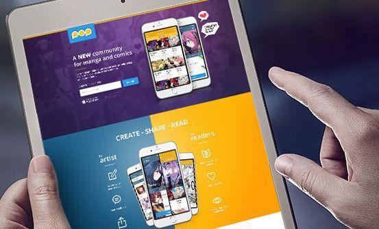 www.popcomics.com - stworzenie landing page aplikacji dla twórców i fanów komiksów