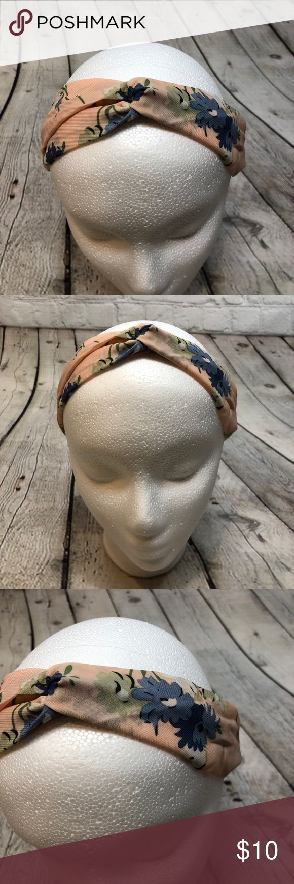 Knotted Boho Headband Pink Floral Flowers This knotted headband is super cute. It has elastic inside the fabric and it's stretchy and comfortable. T