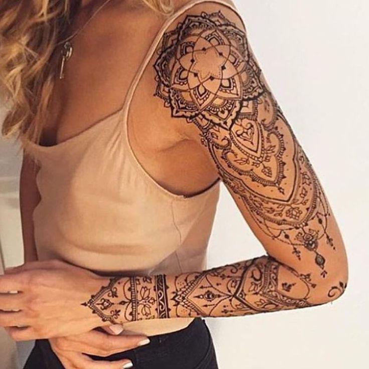 Full arm tattoo, arm tattoo, women's tattoo