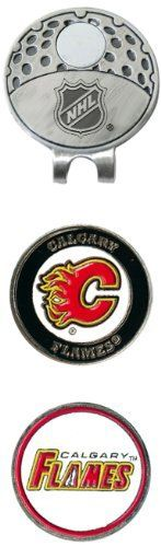 NHL Calgary Flames 2 Marker Cap Clip by Team Golf. $13.49. 2 double sided enamel color fill magnetic markers. The stylish cap clip easily attaches to any hat. The stylish cap clip easily attaches to any hat, and includes 2 double sided enamel color fill magnetic markers.. Save 21% Off!