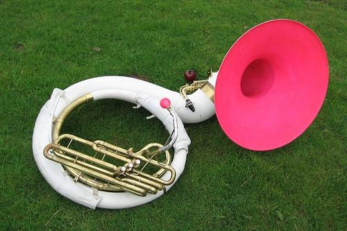 pink sousaphone