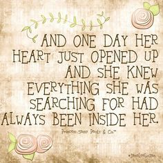 quotes about opening your heart - Google Search