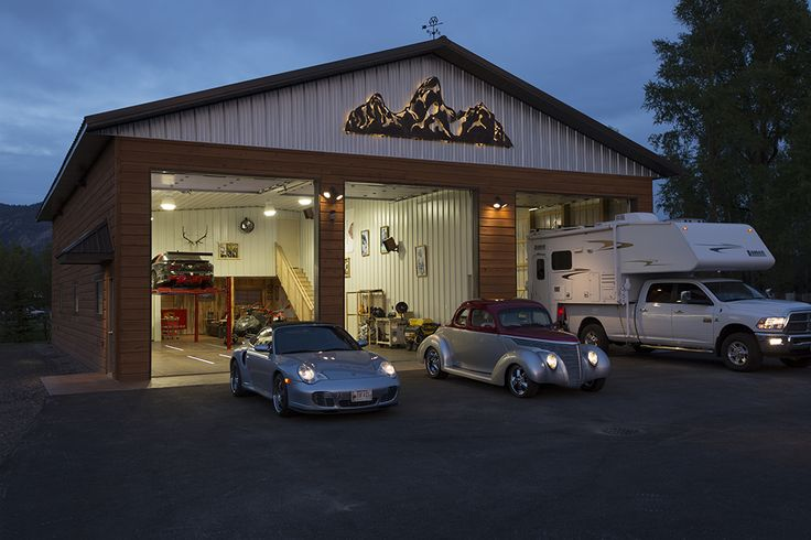 Morton Buildings hobby garage in Wyoming  HobbyGarages