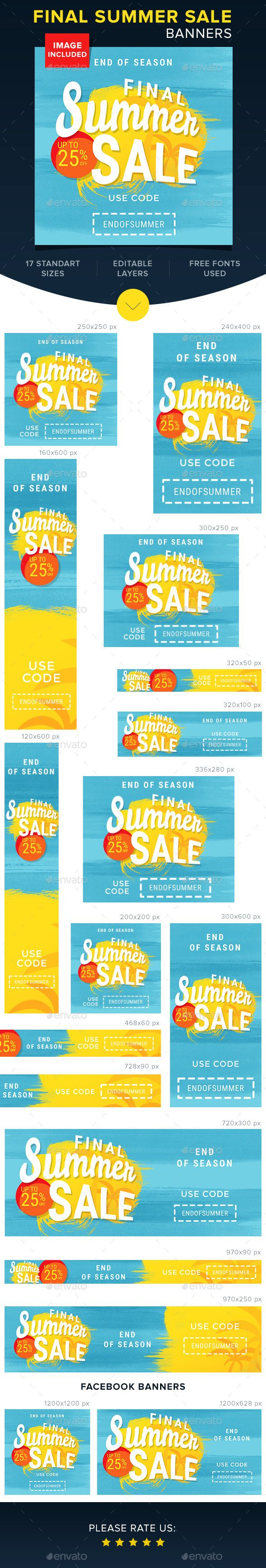 The 25 best web banner design ideas on pinterest web banners final summer sale banners pronofoot35fo Choice Image