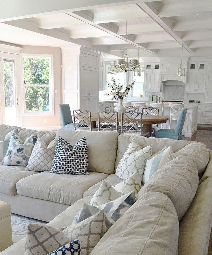 80 inspiring coastal living room decor ideas - Beach House Living Room Decor