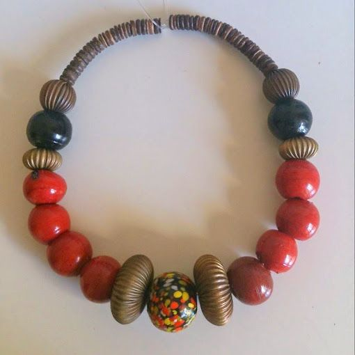 coconut beads, glass beads and brass dome beads https://www.etsy.com/shop/FanmMon