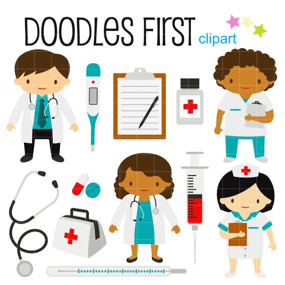 Little Doctors and Nurses Digital Clip Art for Scrapbooking Card Making Cupcake Toppers Paper Crafts on Etsy, $2.99