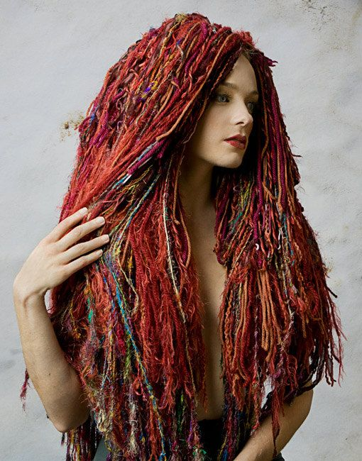Textured Yarn Wig in Sunburst by artstring on Etsy, $400.00