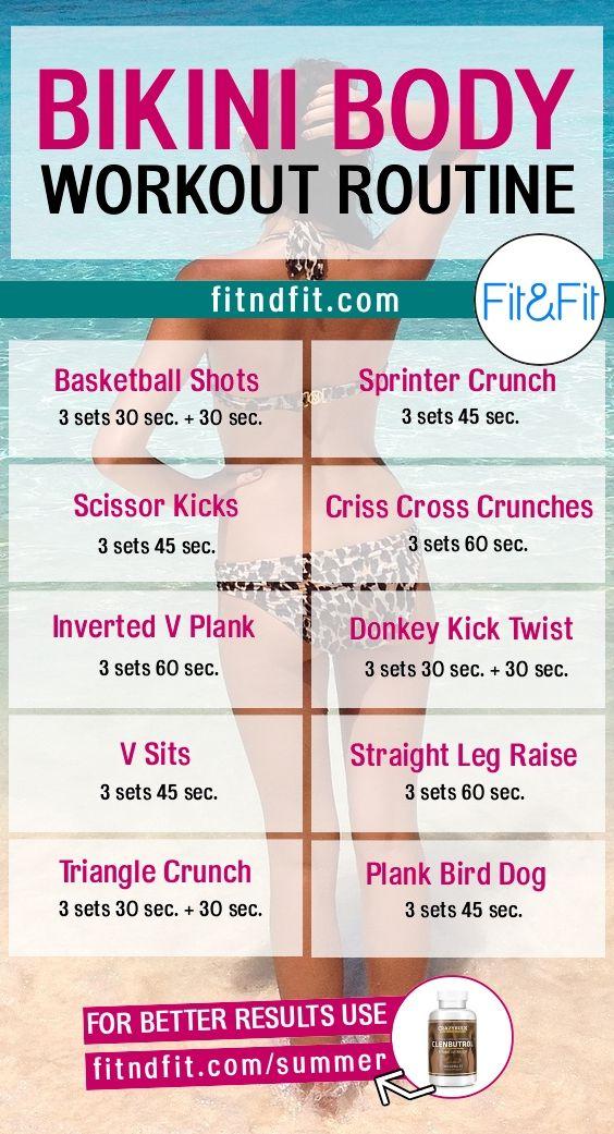 Bikini Body Workout Routine!  #fitness #bodybuilding #workout #gym #weightloss #fatloss #loseweightfast #love #new #pinterest #london #newyork #uk #newyork #losangeles