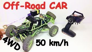 Learn how to make Off Road RC CAR 50 km/h speed 4 wheel drive 1/12 scale | Indian life hacker - #DIY #Creative #arts #HowTo #Crafts #Tutorial