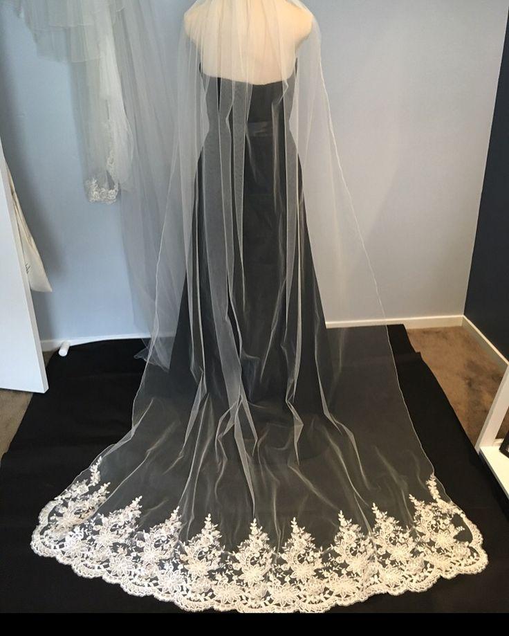 DHALIA ~ Exquisite Lace Veil exclusively hand crafted at Arynvere Bride Veil Couture.   #veils #valentine #love #wedding #bride #engaged #love #winterwedding #beading #handcrafted #sydneydesigners #embroidery #lace #bridalveil #swarovski #crystals #couture #tulle #weddingveil #bridalshoes #flowers #hautecouture #weoa #abfw #weddingexpo #winterbride #cloak #weddingexposaustralia #imgettingmarried