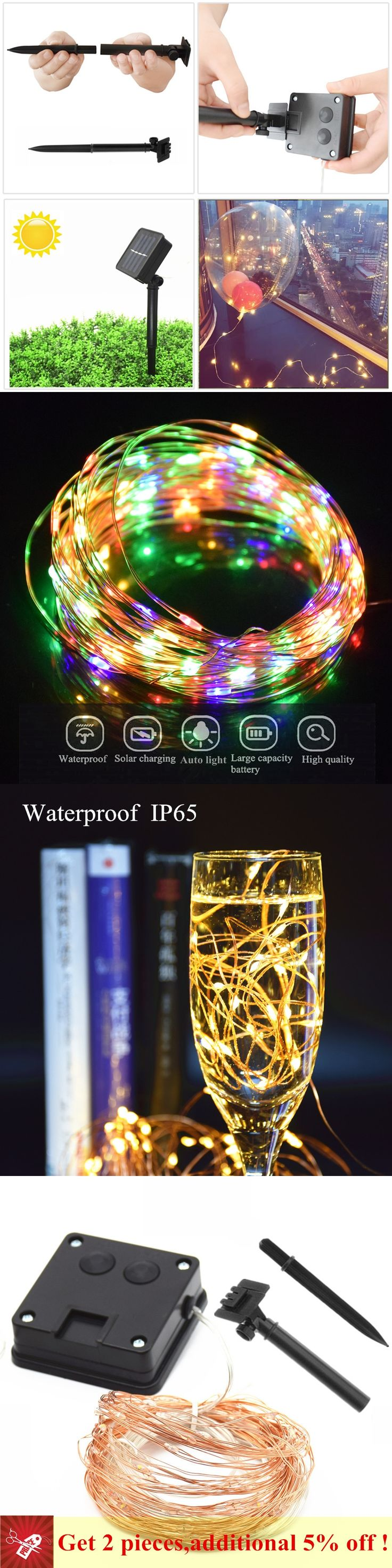 Elegant solar Edison String Lights