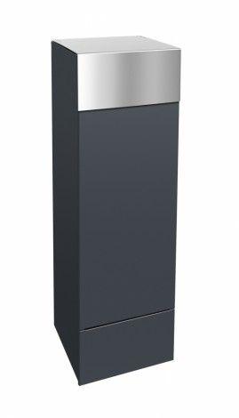 Frabox Design Paketkasten NAMUR Edelstahl / Stahl lackiert von frabox - MK-DB1070-VA-7016-GLAEN online kaufen in unserem Shop   www.bruh.de