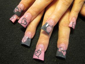 Pink valentines by Oli123 - Nail Art Gallery nailartgallery.nailsmag.com by Nails Magazine www.nailsmag.com #nailart