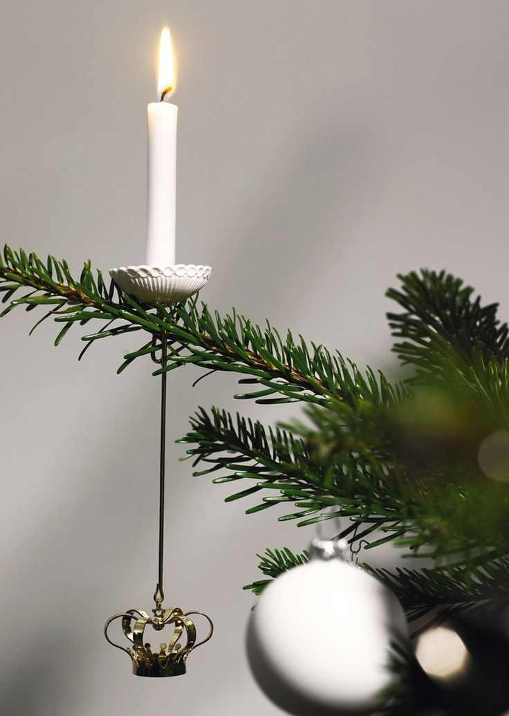Simple and pretty Christmas candle ornament for the tree.