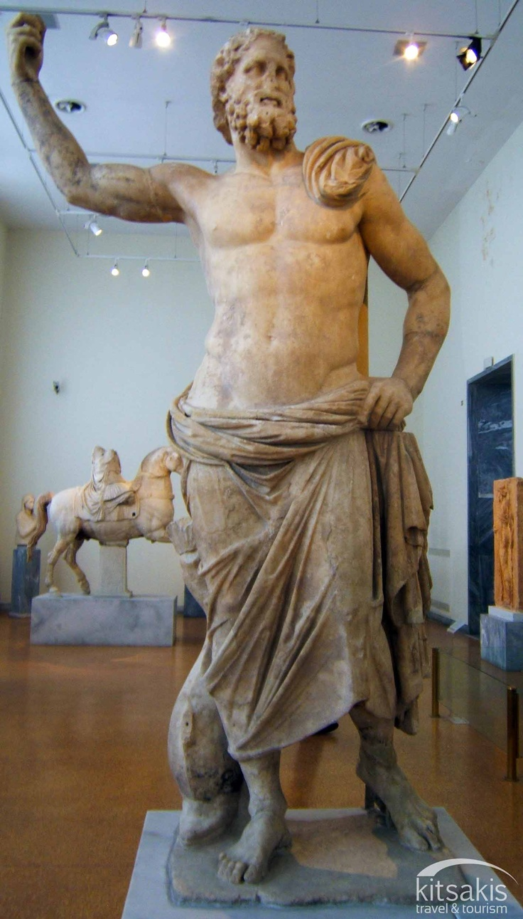 Marble statue of poseidon 125 100 bc it was found in 1877 on melos island cyclades along - Poseidon statue greece ...