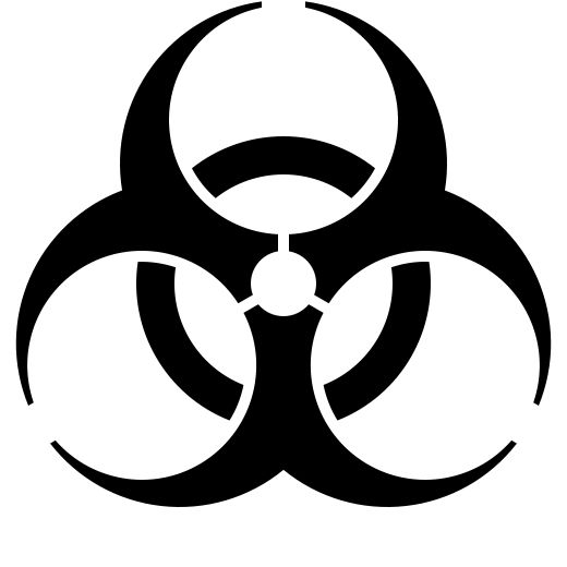 Icons for standard symbols such as those for biohazard, caution signs, nuclear fallout, and high voltage warnings offer fun and games as ironic clipart.  They are copyright free, and readily available as  both raster and vector files.