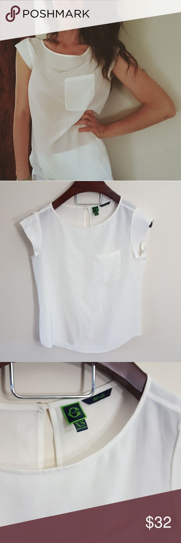C Wonder | 100% silk top |XS In good condition! C Wonder 100% silk top, size XS. Very loose fit. Large pocket detail. Cream white color. Could fit a small.  Bundle up! Offers always welcome:) Tops