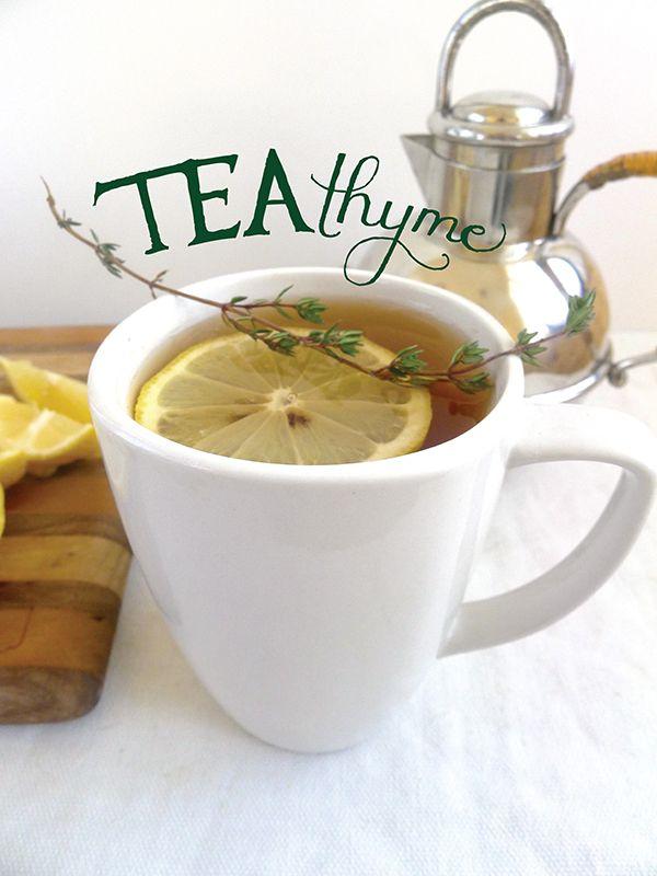 Tea Thyme | Signature cocktail by wedding wellness expert http://carlenethomas.com via http://limnandlovely.com